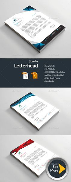 Letterhead - Business Cards Print Templates Download here: https://graphicriver.net/item/letterhead/19816506?ref=classicdesignp