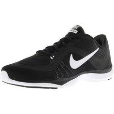 2e1603f9cc7 Nike Women s Flex Trainer 6 Black   White Ankle-High Mesh Walking Shoe -  6.5M