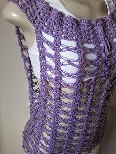 Coisas da Bya - Artesanato Feito á Mão : Blusa Segredo em Crochê