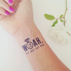 Custom temporary tattoos. Great idea for wedding guests- set up a 'tattoo station' and let them go wild! By Daydream Prints on Etsy