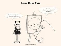 Asian Moon Face