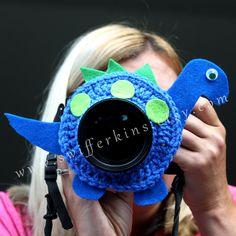 Blue Dinosaur lens buddy. Camera critter. от KikisKreationsprops
