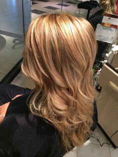 Blonde highlights with medium brown lowlights very pretty