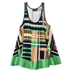 What? Target selling cute ass shit? I bought 3 of this cut tank in different designs. Summer time here I come.   The Webster at Target® Racerback Tank with Ruffle - Plaid Print Navy.