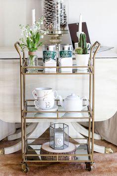 Bar Cart: 3 Ways via Carrie Bradshaw Lied >> #WorldMarket Kitchen