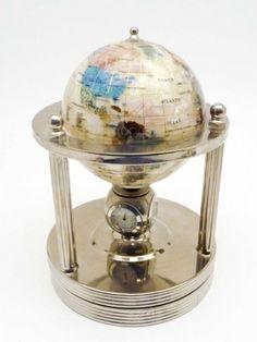 shopgoodwill.com: Gorgeous Semi-Precious Stone Inlay Desktop Globe