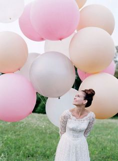 Balloons are a great prop for bridal and engagement photography