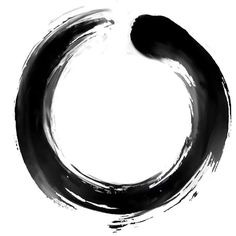 In Zen Buddhism an enso tattoo is a circle that is hand-drawn in one or two uninhibited brush strokes to express a moment when the mind is free to let the body create. I love it it has a calming influence. It also reminds me of the circle of Karma. -E