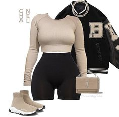 Baddie Outfits Casual, Chill Outfits, Classic Outfits, Retro Outfits, Cute Casual Outfits, Stylish Outfits, Fashion Outfits, Black Girl Fashion, Streetwear Fashion