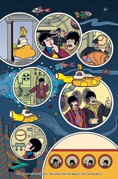 The Beatles' Yellow Submarine Is Getting a New Comic Book Adaptation Next Year Poster Dos Beatles, Foto Beatles, Beatles One, Beatles Photos, Beatles Books, Beatles Nursery, Yellow Submarine Movie, Ligne Claire, The Fab Four