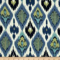 Swavelle/Mill Creek Suarez Neptune Blue $21.98 per yard Fabric.com
