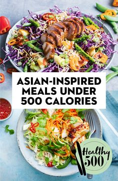 Asian-inspired mains that are under 500 calories 500 Calorie Meal Plan, 500 Calorie Dinners, Meals Under 500 Calories, Healthy Diet Tips, Easy Healthy Recipes, Asian Recipes, Diet Recipes, Healthy Eating, Weight Loss Meals
