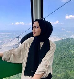 Hijab styles 752453050223065655 - Image may contain: one or more people, sky, mountain and outdoor Source by israshehu Modern Hijab Fashion, Street Hijab Fashion, Muslim Fashion, Casual Hijab Outfit, Hijab Chic, Hijabi Girl, Girl Hijab, Fashion Models, Girl Fashion