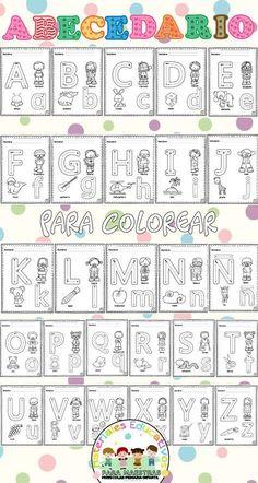 Preschool Writing, Preschool Learning Activities, Preschool Curriculum, Kindergarten Worksheets, Worksheets For Kids, Preschool Spanish, Alphabet Writing Practice, Teaching The Alphabet, Alphabet Worksheets