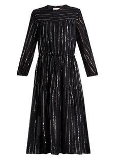 Isabel Marant Étoile Savory metallic-striped cotton-blend dress