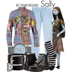 Sally by leslieakay on Polyvore featuring Dr. Martens, Marc Jacobs, Skagen, Polo Ralph Lauren, Giorgio Armani, Lacoste, disney, menswear and disneybound