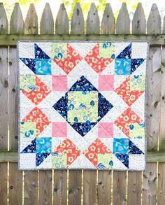 Manderly Fabric Mini Quilt, Tote Bag and English Paper Pieced Embroidery Hoop