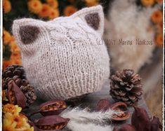 Trendy crochet baby beanie with ears knitting patterns ideas Baby Knitting Patterns, Pattern Baby, Knitting For Kids, Baby Patterns, Hand Knitting, Knitting Needles, Crochet Pattern, Crochet Baby Beanie, Crochet Hats