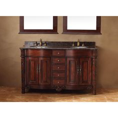 The Classico has form and functionality with its five drawers and four doors for storage. The granite top has a multi-layer, 12-step hand glaze finish to prevent pealing, cracking and fading.