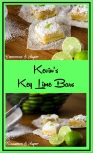 Kevin's Key Lime Bars combines tart key lime filling with a flaky shortbread crust to create a dessert that will make you feel like you're in the…