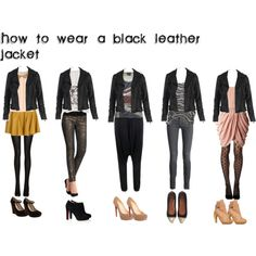 how to wear a black leather jacket