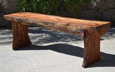 Rustic Log Bench by WoodwavesInc on Etsy, $699.00