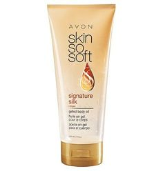 Skin So Soft Signature Silk +argan gelled body oil. Variation Attributes: (Argan Oil scent) ScentName. Super Hydrating. Argan Oil infused gel formulated for the care of every woman's body concerns. No greassy feel. For a soft, healthy looking skin. Items: 6. Oil in Gel. Argan Oil. Body Moisturizer. Helps prevent, stretch marks, dry flaky skin.