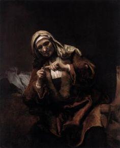 REMBRANDT 1658. VROUW, HARE NAGELS KNIPPEND. Rembrandt Harmenszoon van Rijn (Leiden, 15 juli 1606 of 1607[1] – Amsterdam, 4 oktober 1669) was een Nederlands kunstschilder; hij wordt beschouwd als een van de belangrijkste Hollandse meesters van de 17e eeuw. Rembrandt vervaardigde in totaal ongeveer driehonderd schilderijen, driehonderd etsen en tweeduizend tekeningen.