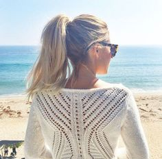 Sweater – LC Lauren Conrad Lc lauren conrad pointelle-back sweater – women's Vanity Fair, Lauren Conrad Style, Beach Babe, Beach Shoot, Beach Trip, Models, Her Style, Spring Summer Fashion, Summer Chic