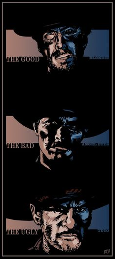The Good, The Bad & The Ugly - movie poster - DrFaustusAU.deviantart.com