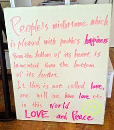 Sign at a local Kanazawa cafe.