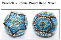 Instant Download! Peacock - 25mm Wood Bead Cover Pattern