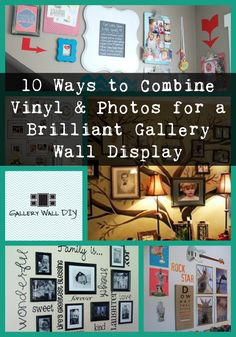 Love family photos? Check. Love beautiful and clever vinyl quote decals? Check. Why not combine the two and great a stunning gallery wall for your home? Here are 10 ideas to get you started...