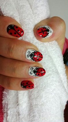 Little Lady Bug Nail Art