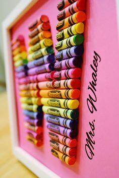 Crayon Monogram, for teachers or kids' rooms