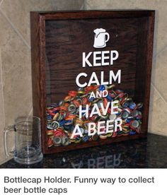 DIY. PRETTY COOL FOR YOUR BAR TOP.