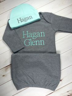 d3b90c13e38a Baby Boy Coming Home Outfit Personalized Infant Baby Gown and Baby Boy  Gowns