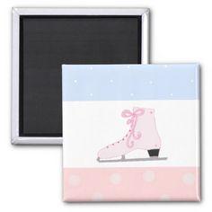 Cute Pink Ice Skate magnet #skating