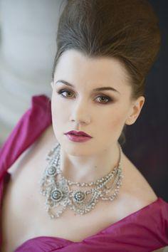 Berry Lips Bride Bridal Make Up Opulent Parisian Pink Wedding Ideas http://careysheffield.com/