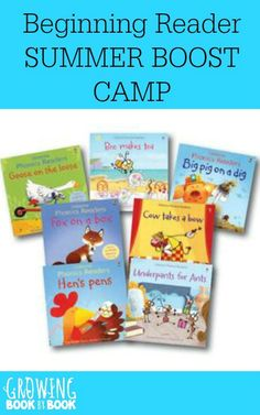 Looking for summer reading ideas for beginning readers?  Join our summer reading boost camp where you will be coached by a reading specialist to help your new reader.