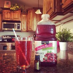 This is called the fat flush. I first heard about it on periscope & have done a little research on it.  Sipping on this is not only yummy, but helps get rid of bloat and banish cellulite.  Ingredients  1 oz 100% unsweetened cranberry juice 7 oz water 1 drop lemon essential oil  Directions  Mix the juice, lemon oil and water. *Tip: Make larger batches and keep in a pitcher for easy access,