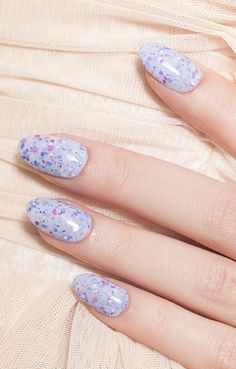 Let Them Eat Cake - A lavender and confetti textured polish inspired by & for a pastel spring