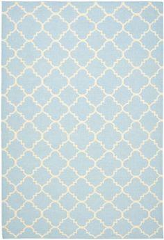 RugStudio presents Safavieh Dhurries Dhu554b Light Blue / Ivory Flat-Woven Area Rug