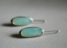 Sterling Silver Peruvian Opal Earrings - by Emily Miller ArtistaTree LLC