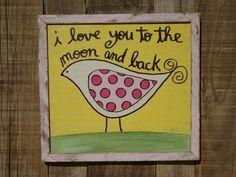 Hand+Painted+Art+Baby+Girl+Pink+Nursery++I+by+TheBarkingDogShop,+$44.00