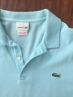 Mens Lacoste Polo Shirt Size 5 Light Blue