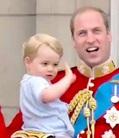 Prince William & young Prince George.