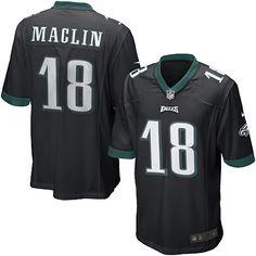 Mens Nike Philadelphia Eagles Jeremy Maclin Game Alternate Black Jersey$79.99