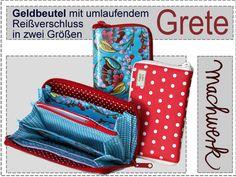 eBook: Grete - Geldbeutel mit Reißverschluss von machwerk auf DaWanda.com