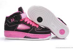 air jordan 5 kids black/pink